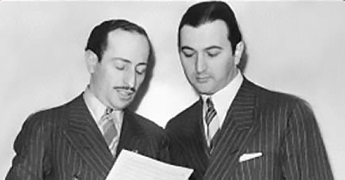 Ángel D'Agostino y Ángel Vargas, director de orquesta y cantor de tango.