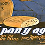"""A pan y agua"", tapa de la partitura musical del tango."