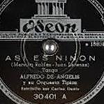 """""""Así es Ninón"""" disco vinilo de Tango."""