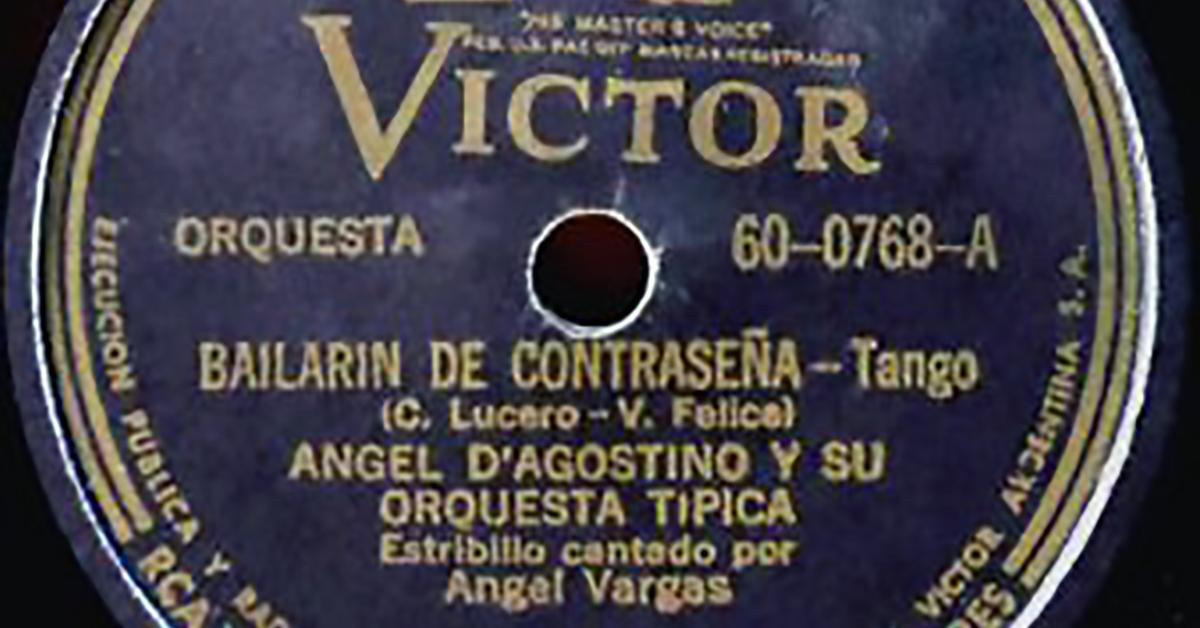 """""""Bailarín de contraseña"""", disco vinilo del Tango."""