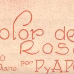 """""""Color de rosa"""", tapa de la partitura musical del tango."""