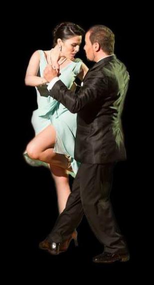 Daniel Naccuchio y Cristina Sosa en la Escuela de Tango de Buenos Aires.