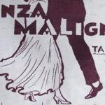 """""""Danza maligna"""", tapa de la partitura musical del tango."""