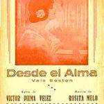 """""""Desde el alma"""", tapa de la partitura musical original."""