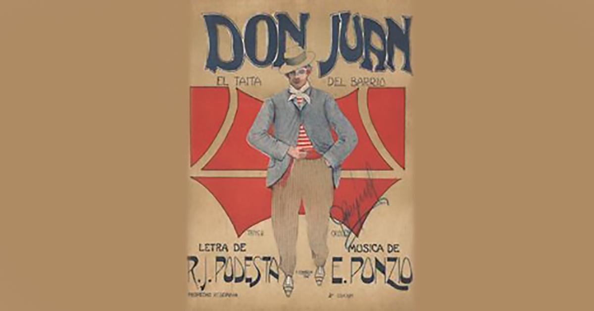 Don Juan, tapa de la partitura musical del Tango.