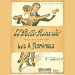 """""""El Pollo Ricardo"""", tapa de la partitura del tango."""
