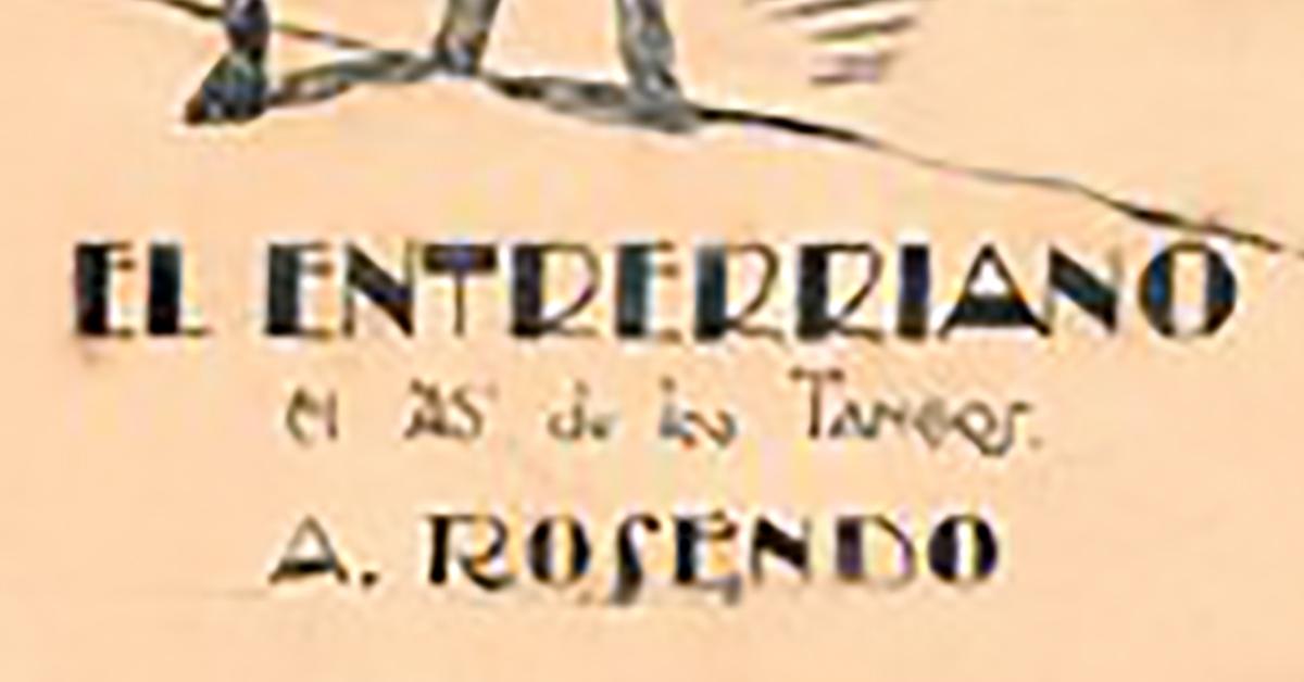 """El entrerriano"", cubierta de la partitura musical del tango."