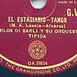 """""""El estagiario"""", disco vinilo del tango."""