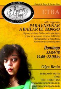 Enseñar a bailar Tango con Olga Besio