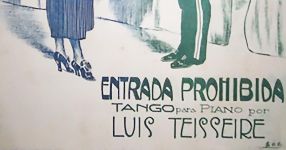 """""""Entrada prohibida"""", tapa de la partitura del tango."""