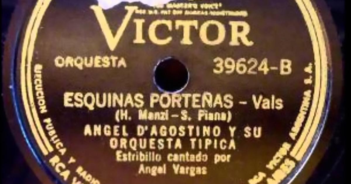 """""""Esquinas porteñas"""", disco vinilo del tango vals."""