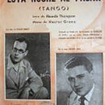 """""""Esta noche al pasar"""", tango de Héctor Grané."""