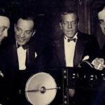 Guillermo Barbieri con Carlos Gardel y otros músicos de nuestro Tango.