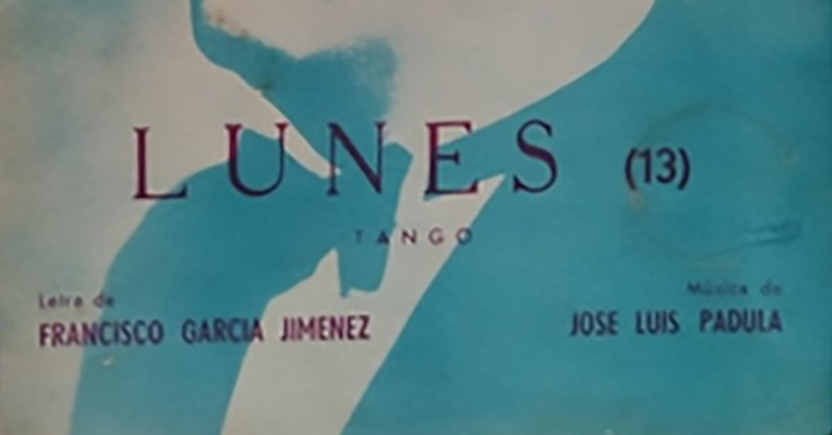 """Lunes"", tapa de la partitura musical del tango."