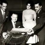 Olga Delgrossi y Donato Racciatti en un ensayo. Tango argentino.