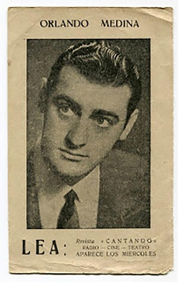 Orlando Medina, gran cantor de tangos.