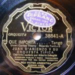 """""""Qué importa"""", disco vinilo de nuestro Tango."""