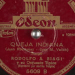 """Queja indiana"" disco vinilo."