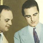 Raúl Iriarte y Miguel Caló, cantor de tangos y su director de orquesta.