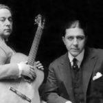 José Razzano, músico y compositor de nuestro Tango, junto a Gardel en 1926.