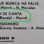 Tanturi-Campos disco vinilo de tango. Detalle de la contratapa.
