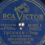 """Tucumán"" por Juan D'Arienzo, disco vinilo del tango."