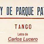 """""""Yo soy de Parque Patricios"""", tapa de la partitura musical del tango."""