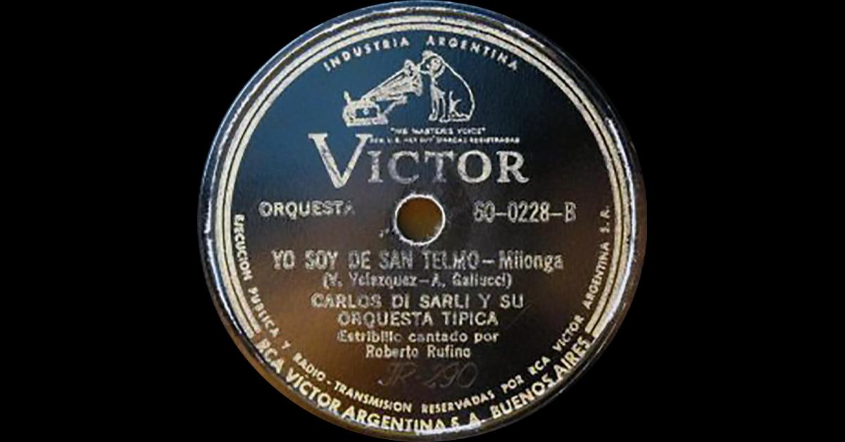 """""""Yo soy de San Telmo"""", disco vinilo del tango milonga."""