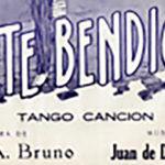 """Yo te bendigo"", tapa de la partitura musical del tango."