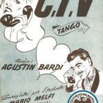 """""""C.T.V."""" tapa de la partitura. Agustín Bardi."""