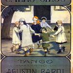 """Gallo Ciego"", portada de la partitura original. Compositor: Agustín Bardi."