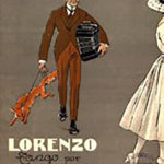 """Tapa de la partitura original de la composición de Agustín Bardi """"Lorenzo"""""""