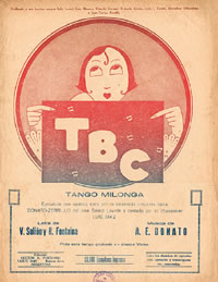 T.B.C. tango music sheet cover