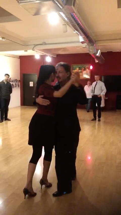 Bailando con Miranda at Escuela de Tango de Buenos Aires in San Francisco, California.