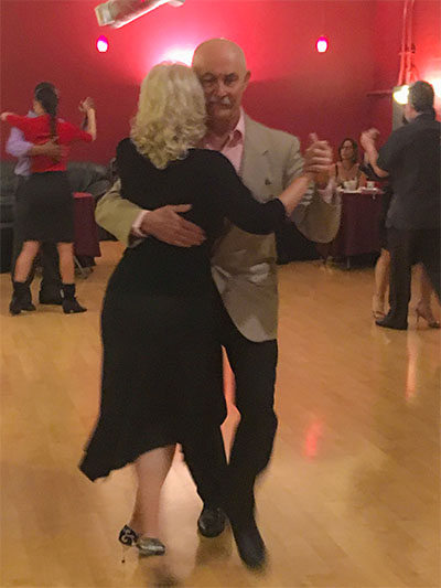 Milonga in San Jose with Marcelo Solis. Argentine Tango at Escuela de Tango de Buenos Aires.